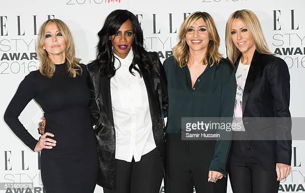 Natalie Appleton Shaznay Lewis Melanie Blatt and Nicole Appleton of All Saints attend The Elle Style Awards 2016 at tate britain on February 23 2016...