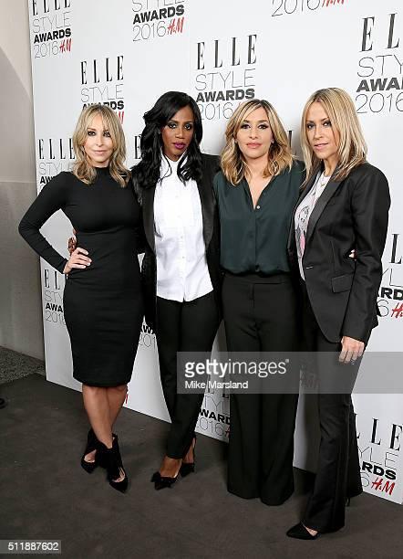 Natalie Appleton Shaznay Lewis Melanie Blatt Nicole Appleton of All Saints attend The Elle Style Awards 2016 on February 23 2016 in London England