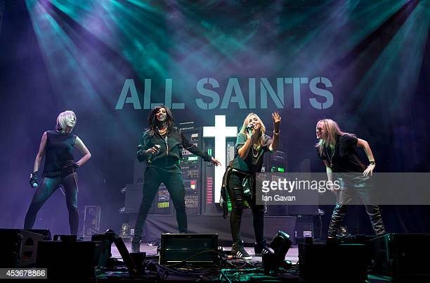 Natalie Appleton Shaznay Lewis Nicole Appleton and Melanie Blatt of All Saints perform on Day 1 of the V Festival at Hylands Park on August 16 2014...
