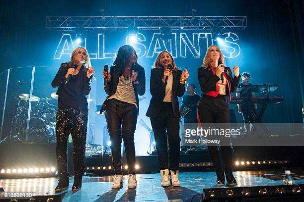 Natalie Appleton Shaznay LewisMelanie Blatt Nicole Appleton of All Saints performing on stage at O2 Academy Bournemouth on October 10 2016 in...