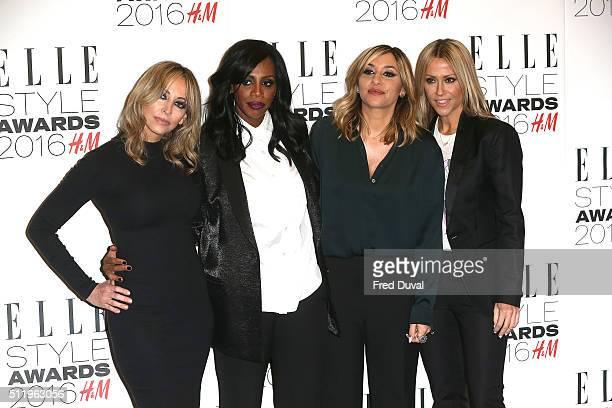 Natalie AppletonShaznay LewisMelanie Blatt and Nicole Appleton of All Saints attend the Elle Style Awards 2016 on February 23 2016 in London England