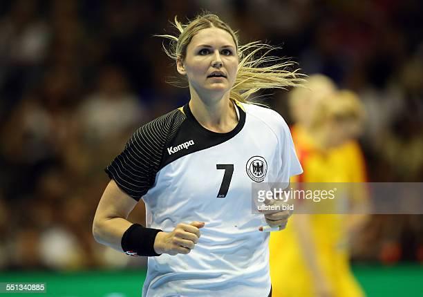 Natalie Augsburg Einzelbild Aktion BR Deutschland DHB Laenderspiel Länderspiel EM Qualifikation Europmeisterschaft Nationalmannschaft Sport Handball...
