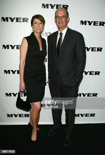 Natalie Barr and David Koch arrive at the MYER Spring Summer 2009/10 Collection Launch at Carriageworks on August 19 2009 in Sydney Australia