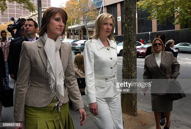 Natalie Barr and Melissa Doyle from Channel 7's Sunrise team leaving the Magistrate's Court today They're facing charges for a report they did about...