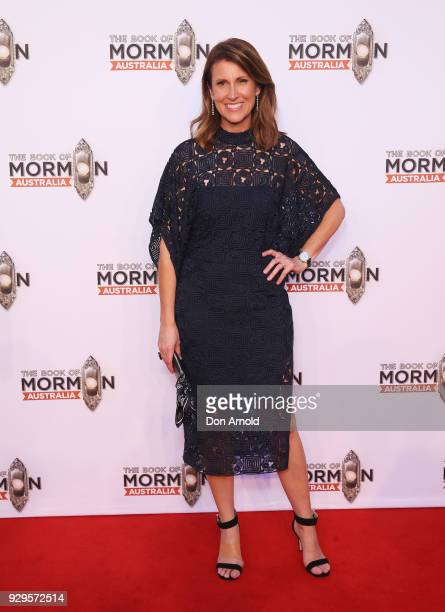 Natalie Barr arrives ahead of The Book of Mormon opening night at the Lyric Theatre Star City on March 9 2018 in Sydney Australia