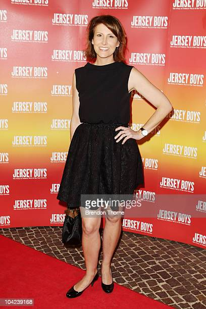 Natalie Barr arrives at the opening night for Jersey Boys The Story of Frankie Valli the Four Seasons at the Theatre Royal on September 18 2010 in...