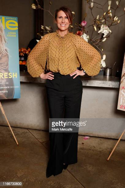 Natalie Barr attends the Marie Claire InStyle luncheon in honour of the Ovarian Cancer Research Foundation on August 08 2019 in Sydney Australia