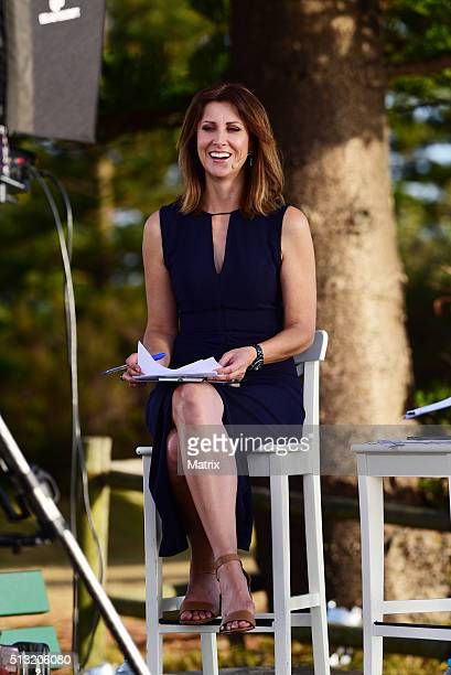 Natalie Barr is seen on set during a Sunrise filming at Palm Beach on March 2 2016 in Sydney Australia