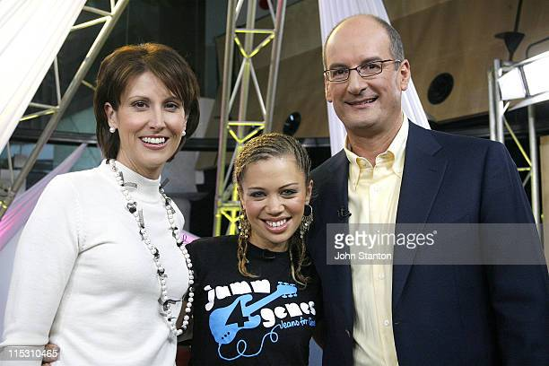 Natalie Barr Jade McRae and David Koch during Jade McRae and Paulini Visit 'Sunrise' August 4 2006 at Channel Seven Studios in Sydney NSW Australia