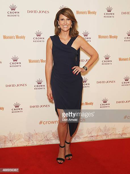 Natalie Barr poses at the Crown's Autumn Ladies Lunch at David Jones Elizabeth Street Store on March 20 2015 in Sydney Australia