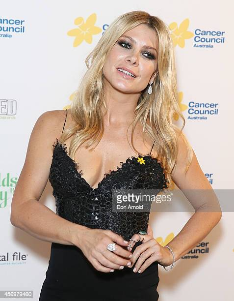 Natalie Bassingthwaighte arrives at The Emeralds and Ivy Ball at Sydney Town Hall on October 10 2014 in Sydney Australia