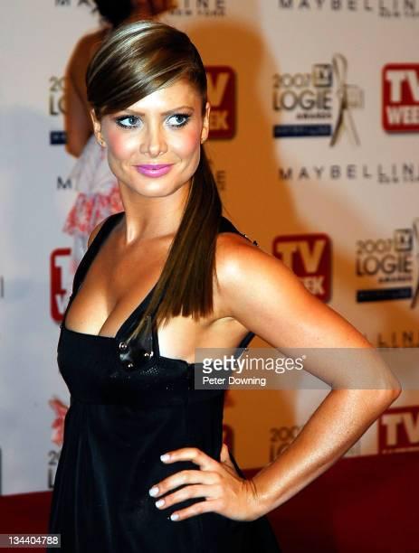 Natalie Bassingthwaighte during 2007 TV Week Logie Awards Arrivals at Crown Casino in Sydney NSW Australia