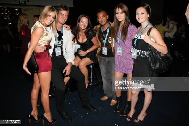 Natalie Bassingthwaighte Ricki Lee Coulter Israel Natalie Blair and Eliza Taylor Cotter