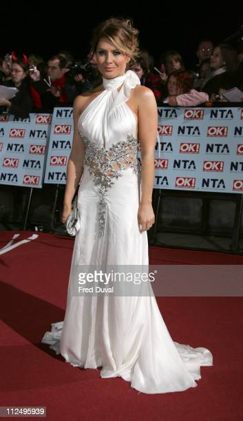 Natalie Bassingthwaite during National Television Awards 2006 Red Carpet at Royal Albert Hall in London Great Britain