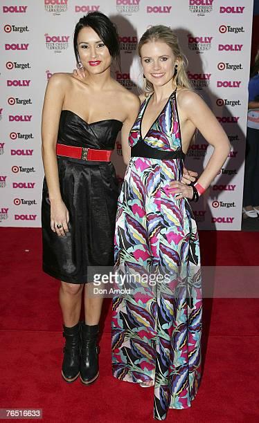 Natalie Blair and Pippa Black arrive at the Dolly Teen Choice Awards at Luna Park on September 5 2007 in SydneyAustralia