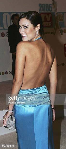 Natalie Blair arrives at the 47th Annual TV Week Logie Awards at the Crown Entertainment Complex on May 1 2005 in Melbourne Australia