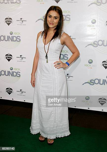 Natalie Blair arrives at the Xbox Sounds event at Sydney Opera House on October 14 2008 in Sydney Australia The event is the first in a series of...