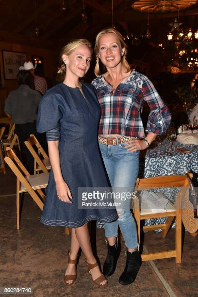 Natalie Bloomingdale and Zoe Bullock attend Hearst Castle Preservation Foundation Annual Benefit Weekend 'Hearst Ranch Patron Cowboy Cookout' at...