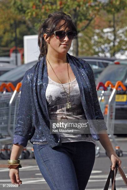 Natalie Cassidy arrives at the gym for a dance rehearsal on October 1, 2009 in London, England.