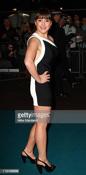 """Natalie Cassidy arrives at the Royal Premiere of """"The Other Boleyn Girl"""" at the Odeon Leicester Square on February 19, 2008 in London, England."""