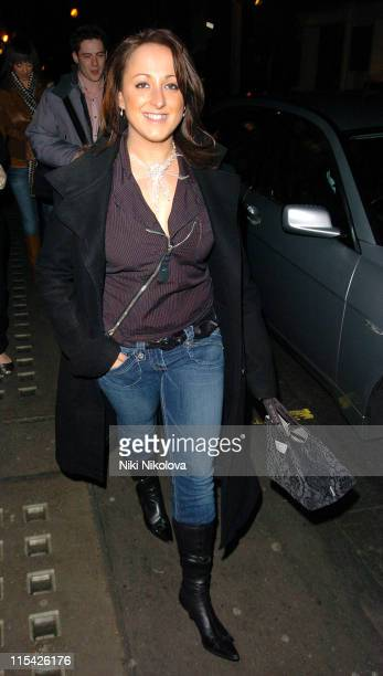 Natalie Cassidy during Natalie Cassidy Sighting at the Ivy in London - March 21, 2006 at Ivy Restaurant in London, Great Britain.