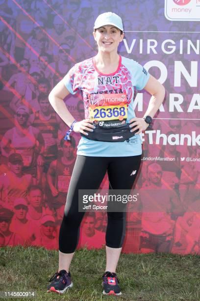 Natalie Cassidy during the Virgin London Marathon 2019 on April 28, 2019 in London, United Kingdom.