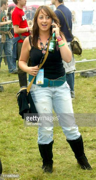 Natalie Cassidy during V Festival 2005 - Chelmsford - Day One - Backstage at Hylands Park in Chelmsford, Great Britain.