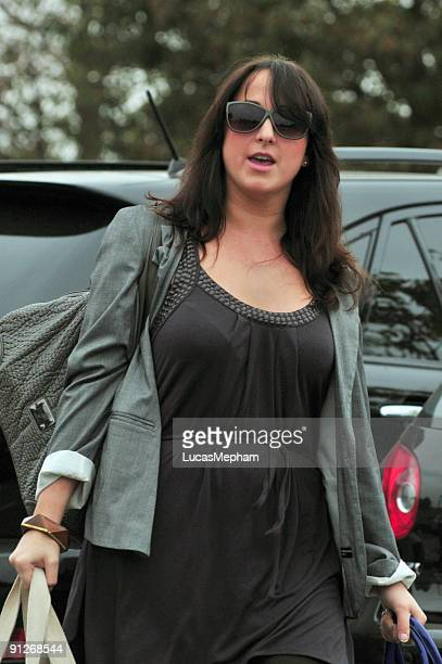 Natalie Cassidy goes for her morning workout on September 30, 2009 in London, England.