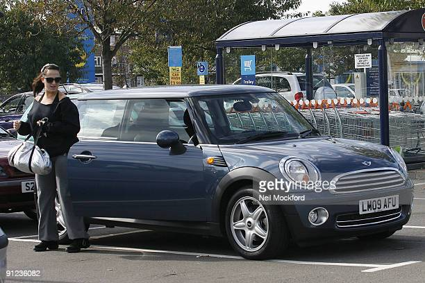 Natalie Cassidy is sighted with her new Mini Cooper Car on September 29, 2009 in London, England.