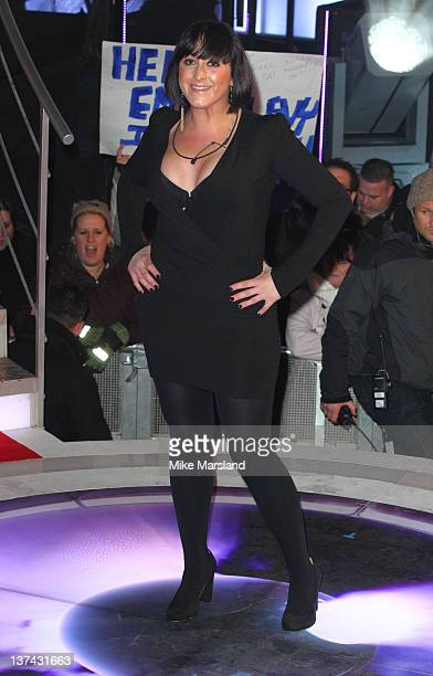 Natalie Cassidy is the fifth celebrity to get evicted from Celebrity Big Brother 2012 at Elstree Studios on January 20 2012 in Borehamwood England