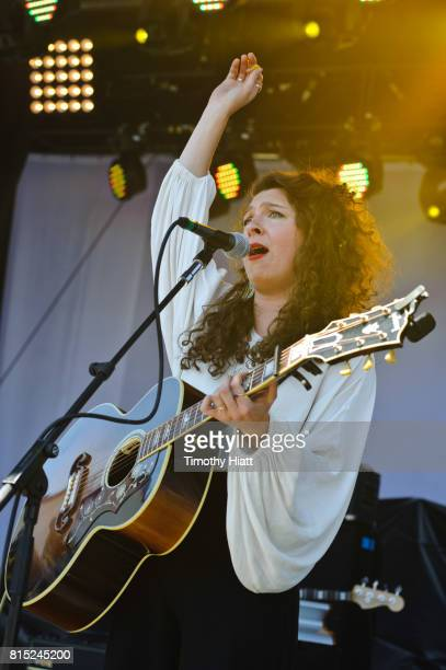 Natalie Closner of the band Joseph performs on day two of the 2017 Forecastle Festival on July 14, 2017 in Louisville, Kentucky.