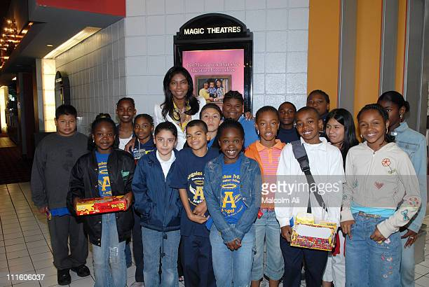 Natalie Cole and Angeles Mesa School students during Natalie Cole Hosts Akeelah and the Bee for 4th and 5th Graders at Angeles Mesa Elementary School...