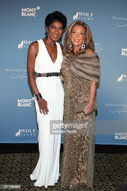 Natalie Cole and Denise Rich attend the Princess Grace Awards Gala at Cipriani 42nd Street on November 1 2011 in New York City