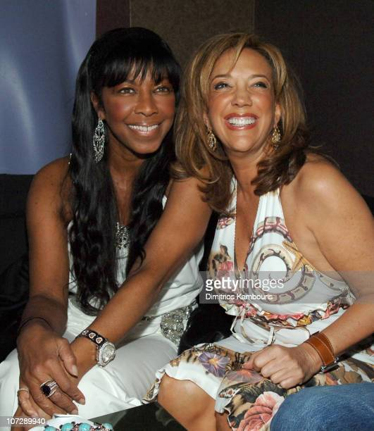 Natalie Cole and Denise Rich during VH1 Save The Music A Concert To Benefit The VH1 Save The Music Foundation After Party at AER in New York City New...