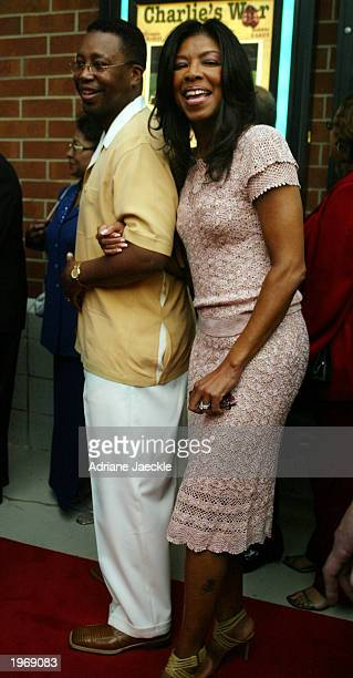 Natalie Cole and husband Bishop Kenneth H Dupree arrive at the opening of Charlie's War at the Nashville Film Festival at the Green Hills Regal...
