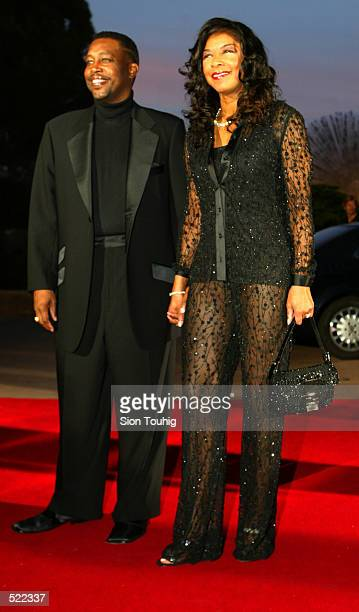 Natalie Cole and Kenneth Dupree arrive at the Laureus Sport for Good Foundation Dinner at the Salles des Etoiles in the Sporting Club in Monte Carlo...