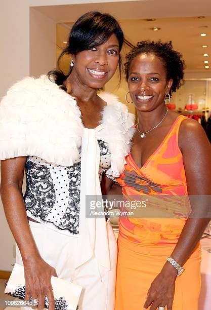 Natalie Cole and Vanessa Bell Calloway during ESCADA HollyRod at Escada Boutique in Los Angeles California United States
