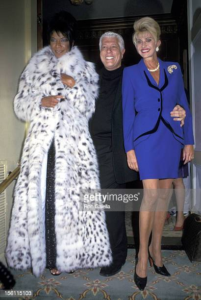 Natalie Cole Dennis Basso and Ivana Trump during Dennis Basso Fashion Show at Pierre Hotel in New York City New York United States