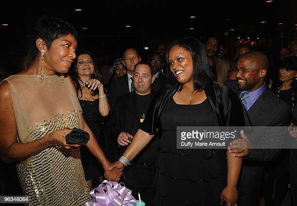 Natalie Cole Felanice Yancy and Robert Yancy attend Natalie Cole's 60th Birthday Party on February 1 2010 in Beverly Hills California