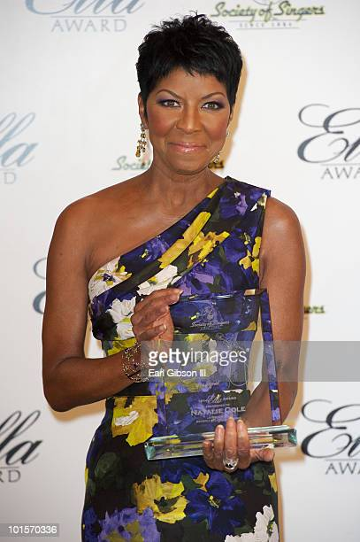 Natalie Cole is awarded the Top Ella Award by The Society of Singers at The Beverly Hilton hotel on June 1 2010 in Beverly Hills California