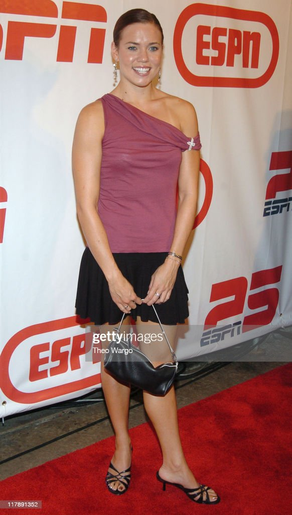 Natalie Coughlin during ESPN's 25th Anniversary Celebration - Arrivals at ESPN Zone - Times Square in New York City, New York, United States.