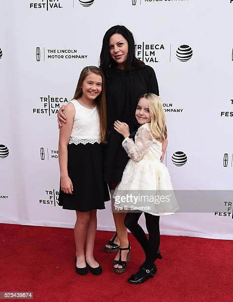 Natalie Coughlin Susan McMartin and McKenna Grace attend Mr Church Premiere during 2016 Tribeca Film Festival on April 22 2016 in New York City