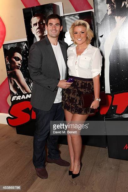 Natalie Coyle and Zafar Rushdie attend a VIP screening of 'Sin City 2' at Ham Yard Hotel on August 20 2014 in London England