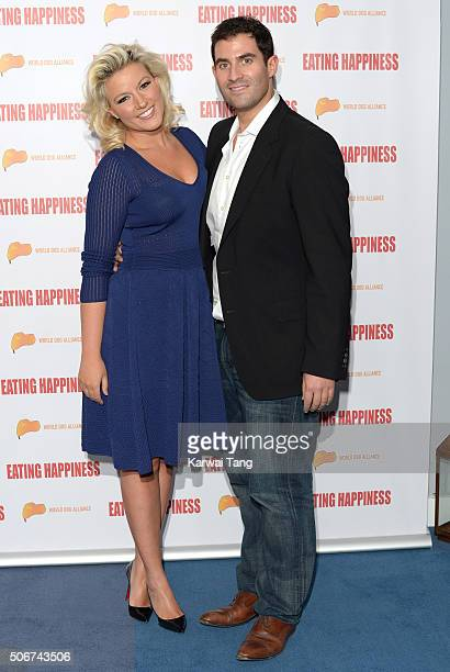 Natalie Coyle and Zafar Rushdie attend the 'Eating Happiness' VIP screening at the Mondrian Hotel on January 25 2016 in London England