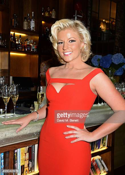 Natalie Coyle attends a private dinner to celebrate her engagement to Zafar Rushdie at Library on September 6 2014 in London England