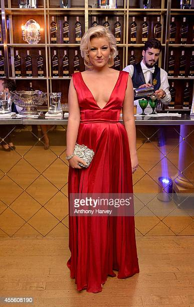 Natalie Coyle attends JOHNNIE WALKER BLUE LABEL Presents Symphony In Blue A Journey To The Centre of The Glass on September 17 2014 in London England