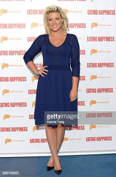 Natalie Coyle attends the 'Eating Happiness' VIP screening at the Mondrian Hotel on January 25 2016 in London England