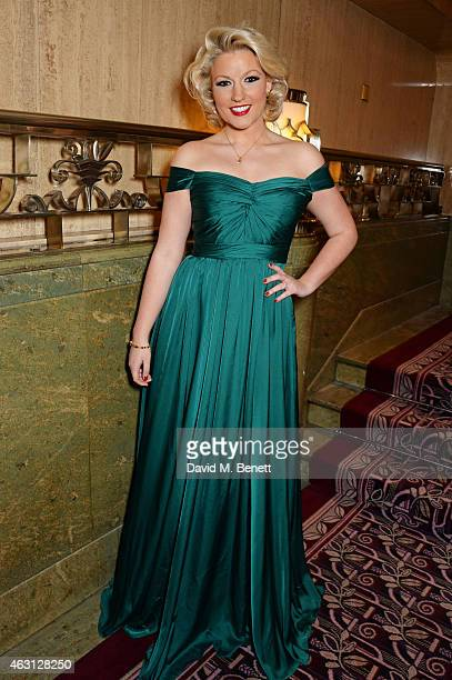 Natalie Coyle attends the inaugural Roll Out The Red Ball in aid of the British Heart Foundation at The Park Lane Hotel on February 10 2015 in London...