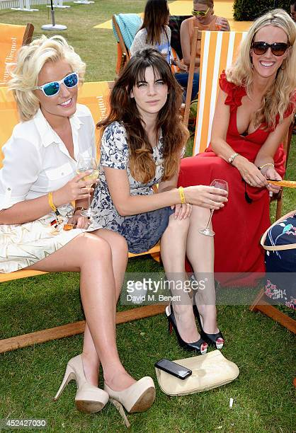 Natalie Coyle Martha Freud and Kate Freud attend the Veuve Clicquot Gold Cup Final at Cowdray Park Polo Club on July 20 2014 in Midhurst England