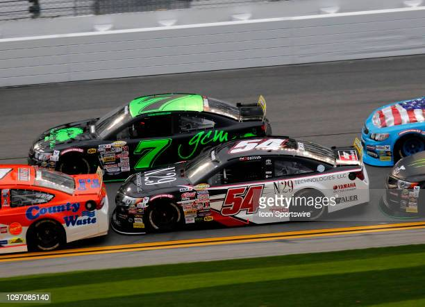 Natalie Decker N29 Technologies Toyota Codie Rohrbaugh Grant County Mulch Chevrolet the running of the Lucas Oil 200 on February 9 2019 at Daytona...